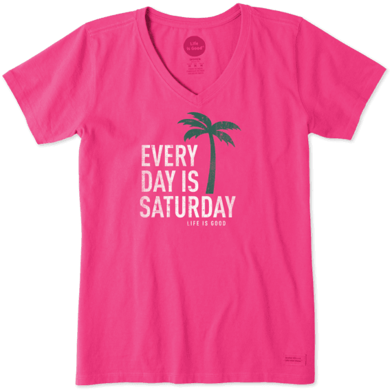 0fba0dca771ecd Sale Women's Every Day Is Saturday Crusher Vee | Life is Good ...