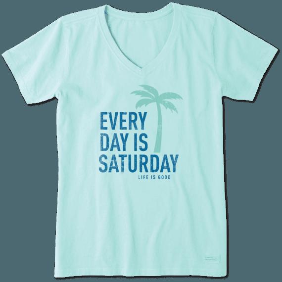 Women's Every Day Is Saturday Crusher Vee