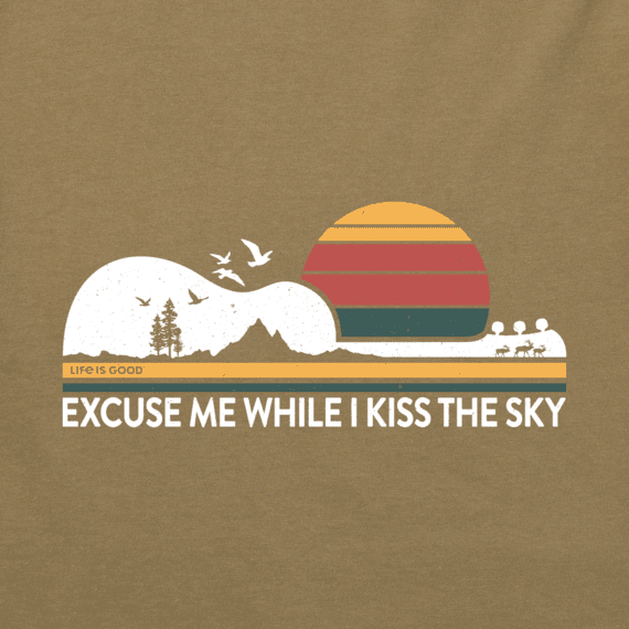 Women's Excuse Me While I Kiss the Sky Crusher Tee