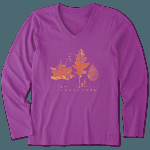 Women's Fall Walk Long Sleeve Crusher Vee
