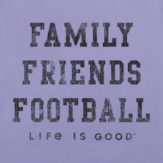 Women's Family Friends Football Long Sleeve Crusher Vee