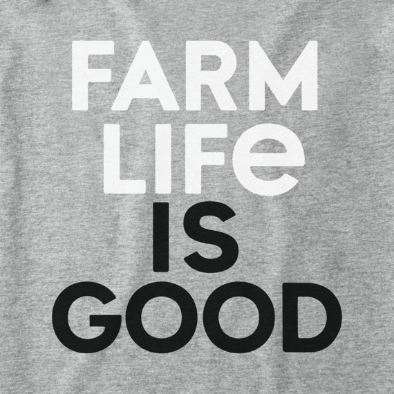 Women's Farm Life Is Good Crusher Vee
