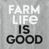 Women's Farm Life Is Good Crusher Vee