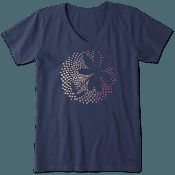 Women's Fibonacci Flower Crusher Vee
