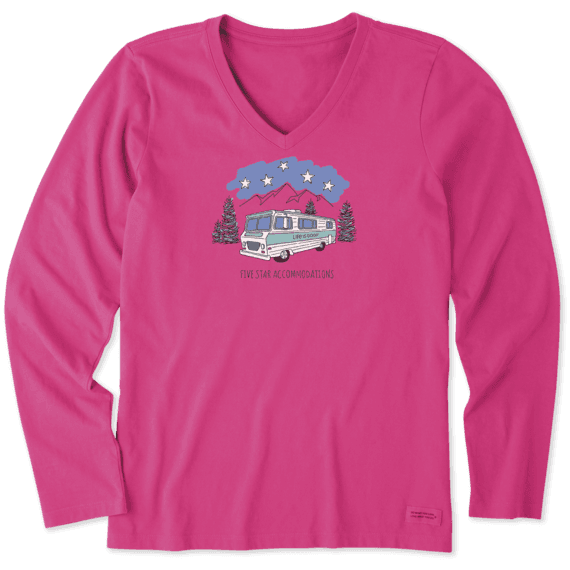Women's Five Star Accommodation Long Sleeve Crusher Vee