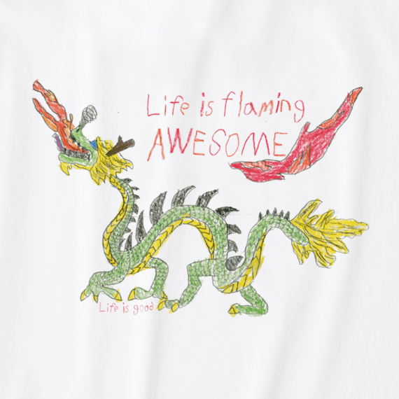 Women's Flaming Awesome Crusher Tee