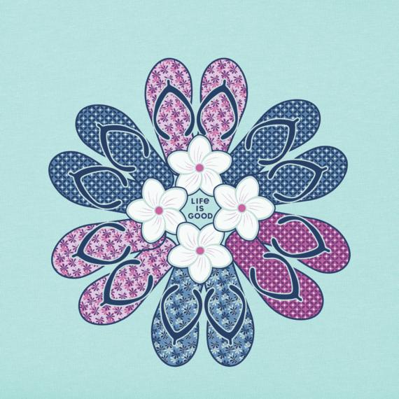 Women's Flip Flop Flower Crusher Vee