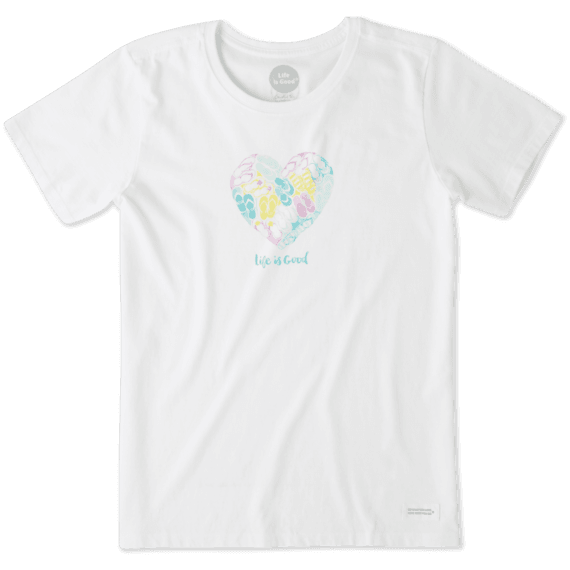 Women's Flip Flop Heart Crusher Tee