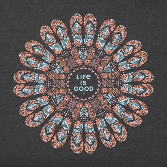 Women's Flip Flop Kaleidoscope Crusher Tee