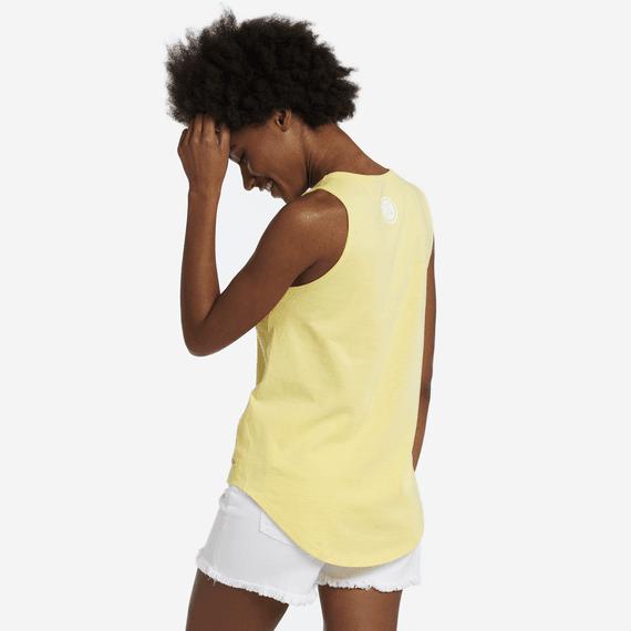 Women's Flip Flop Sun High-Low Crusher Tank