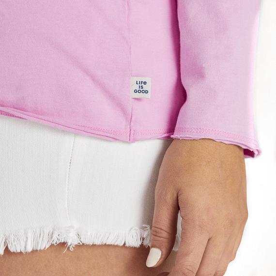 Women's Flip Flops 365 Long Sleeve Hooded Smooth Tee