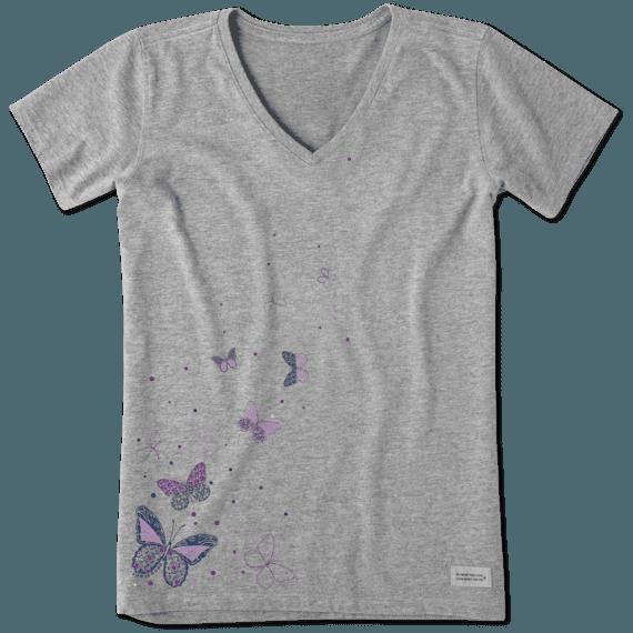 Women's Floating Butterflies Crusher Vee
