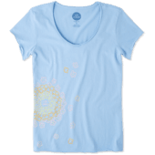 Women's Floating Flowers Smooth Tee
