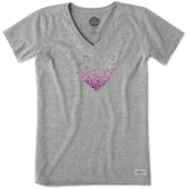 Women's Floating Heart Of Hearts Crusher Vee