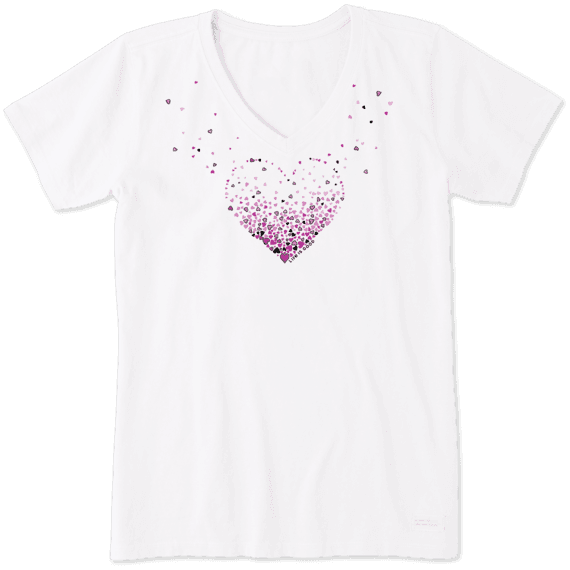 Womens Floating Heart Of Hearts Crusher