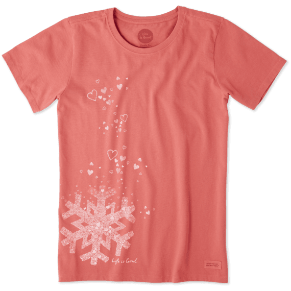 Women's Floating Snowflakes Crusher Tee