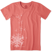 Women's Floating Snowflakes Crusher Tee