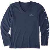 Women's Flock Of Joy Long Sleeve Crusher Vee