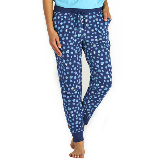Women's Floral Element Print Snuggle Up Sleep Jogger