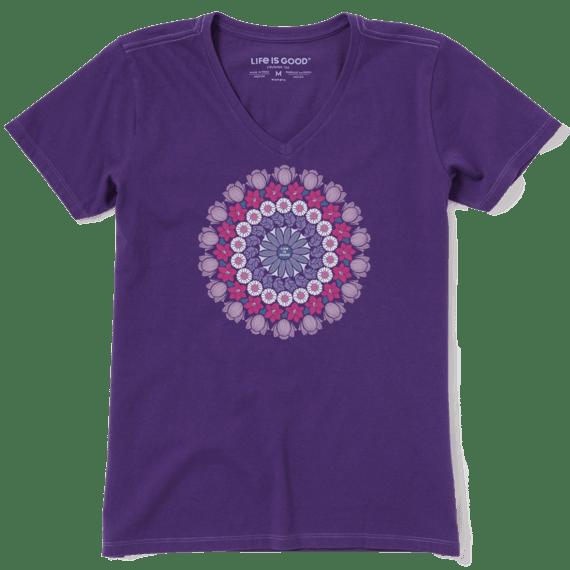 Women's Floral Mandala Crusher Vee