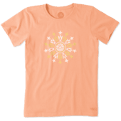Women's Floral Stars Crusher Tee