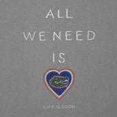 Women's Florida Gators All We Need Heart Cool Vee