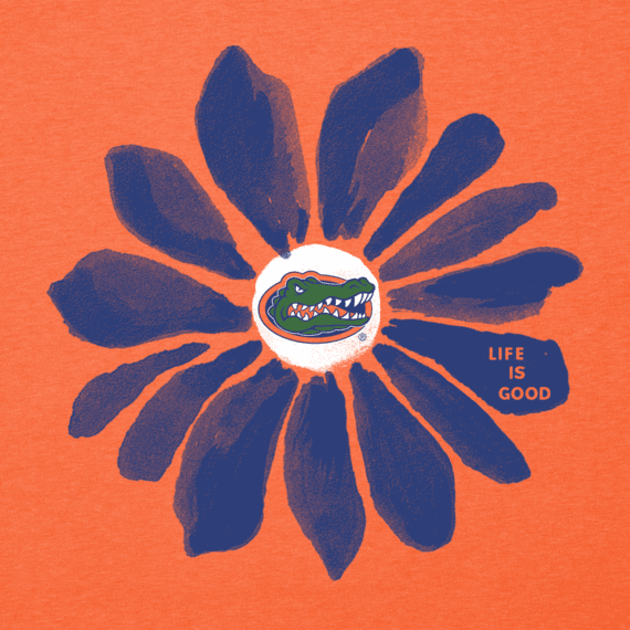 Women's Florida Gators Daisy Long Sleeve Cool Vee