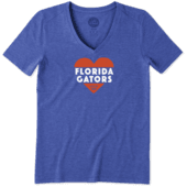 Women's Florida Gators Heart Knockout Cool Vee
