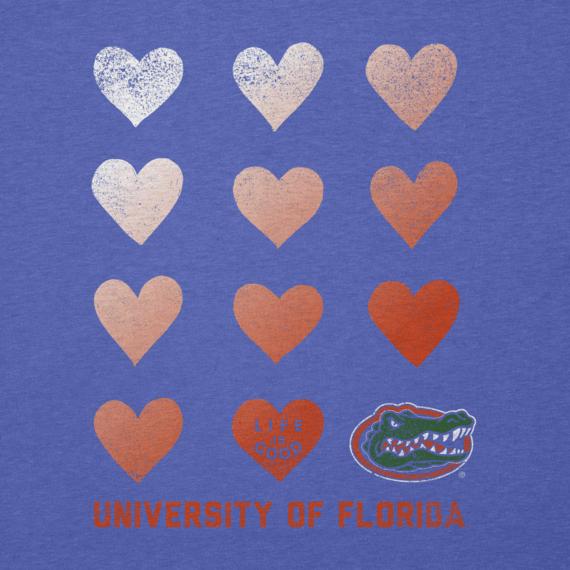 Women's Florida Gators Heart Stack Cool Vee
