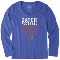 Women's Florida Gators Infinity Football Long Sleeve Cool Vee