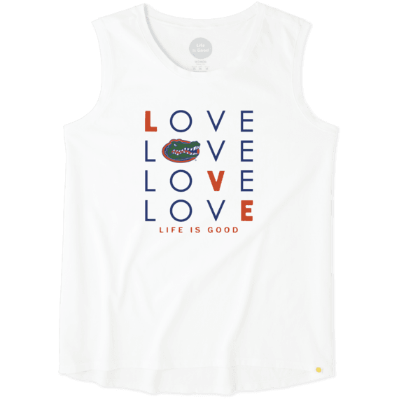 Women's Florida Gators Love Stack Sleeveless Tee