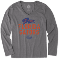 Women's Florida Gators Pennant Long Sleeve Cool Vee