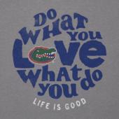 Women's Florida Gators Retro Dwyl Circle Long Sleeve Cool Vee