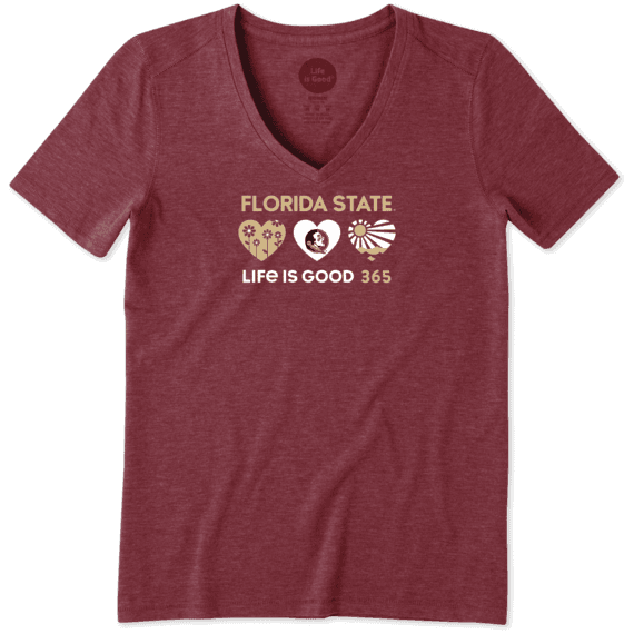 Women's Florida State 365 Hearts Cool Vee
