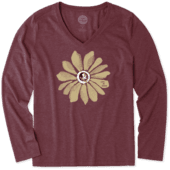 Women's Florida State Daisy Long Sleeve Cool Vee