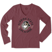 Women's Florida State Face Paint Jake Long Sleeve Cool Vee