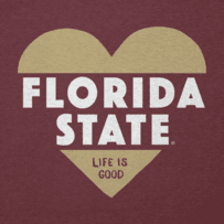 Women's Florida State Heart Knockout Cool Vee