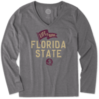 Women's Florida State Pennant Long Sleeve Cool Vee