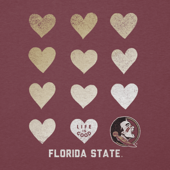 Women's Florida State Seminoles Heart Stack Cool Vee