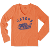 Women's Florida Vintage Truck Long Sleeve Cool Vee