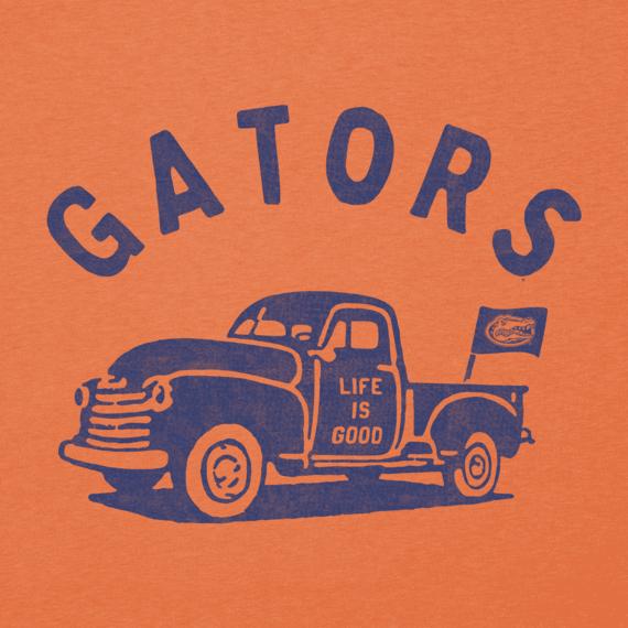 Women's Florida Vintage Truck Long Sleeve Cool Vee