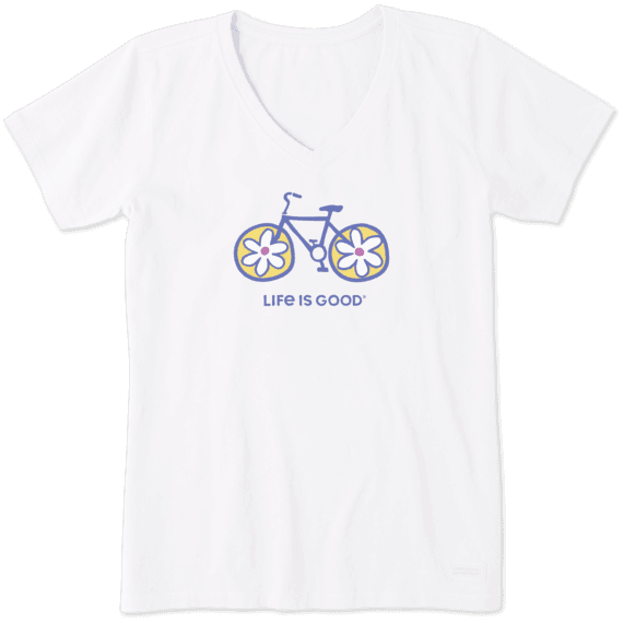 Women's Flower Bike Crusher Vee