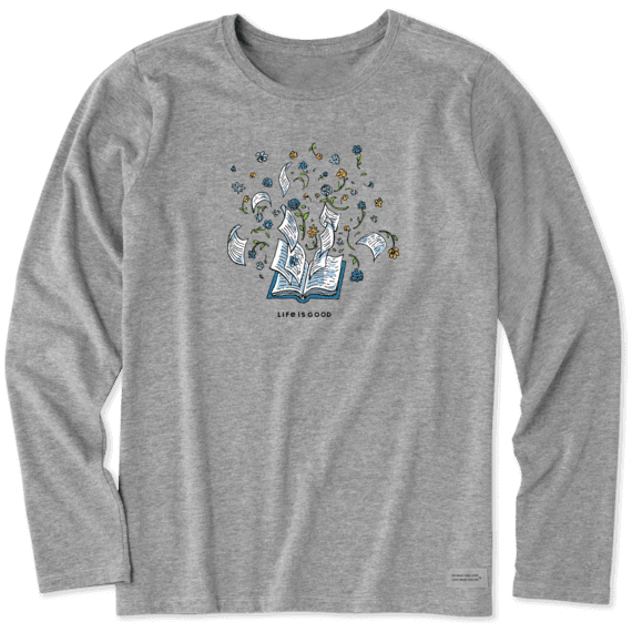 Women's Flower Book Long Sleeve Crusher Tee