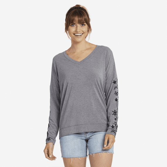Women's Flower Element Supreme Blend Wide Vee Pullover