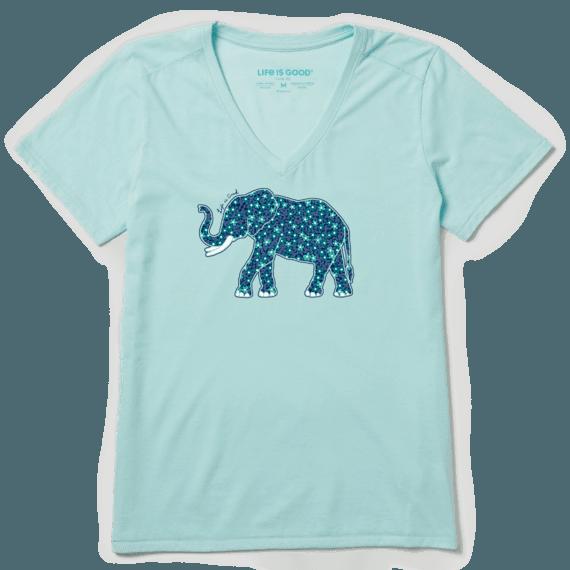 Women's Flower Elephant Cool Vee