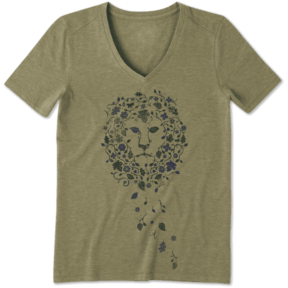 6e8c61eb91 Women's Flower Lion Cool Vee | Life is Good® Official Site
