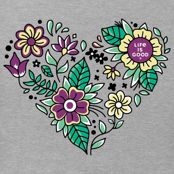Women's Flower Love Crusher Vee