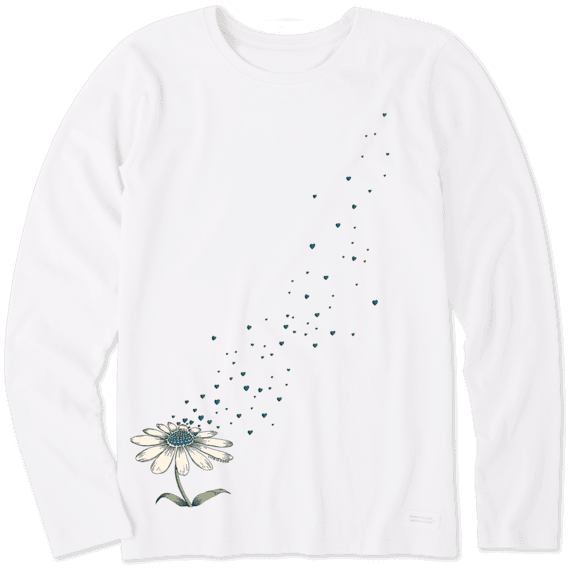 Women's Flower Love Long Sleeve Crusher Tee