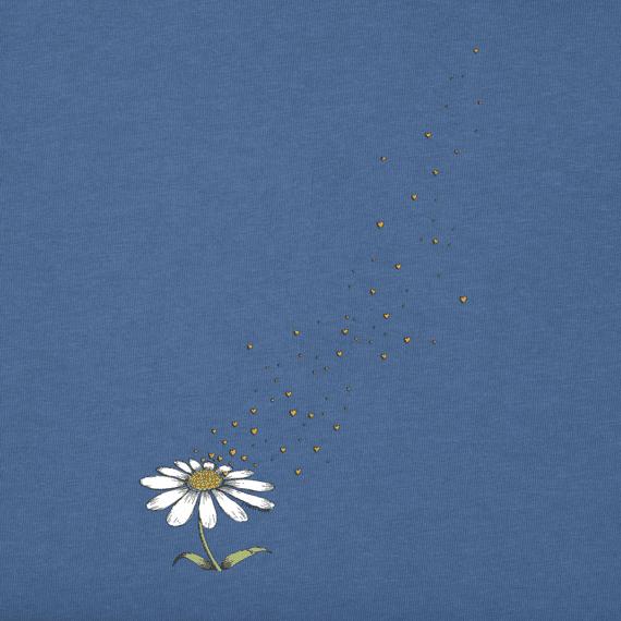 Women's Flower Love Long Sleeve Crusher Vee