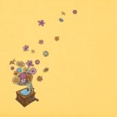 Women's Flower Phonograph Crusher Tee